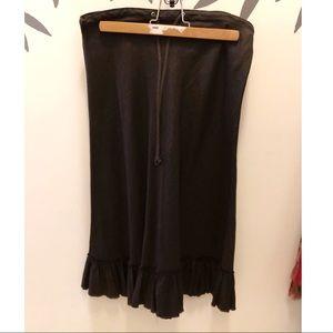 100% Linen Raw Edge Ruffle Hem Skirt. Excellent!